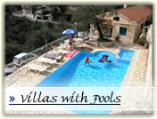 Corfu Kalami villas with pool