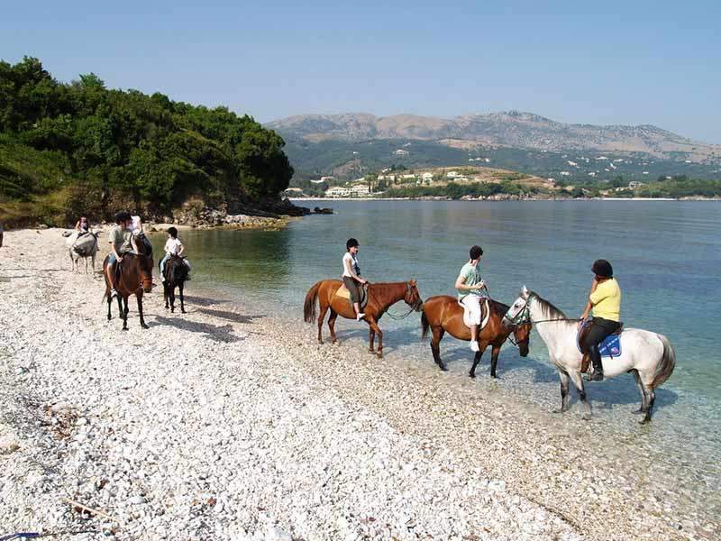 Horse riding on Corfu