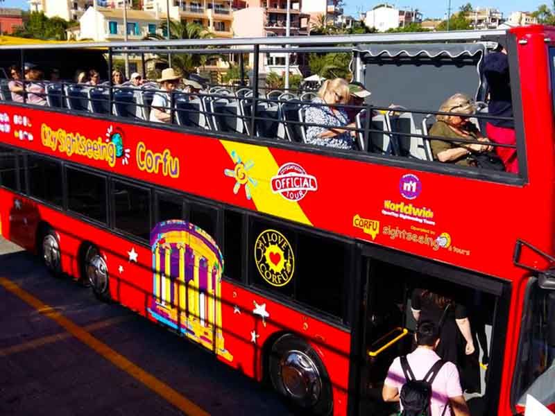 Corfu City Sightseeing by Bus