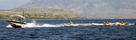 water sports at Kalami Corfu